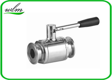 China Portable Sanitary Full Port Ball Valve , Stainless Steel Ball Valve For Food Industry Piping System supplier