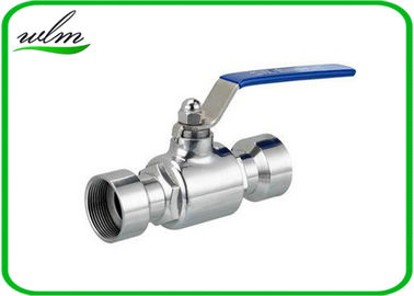 China Hygienic Male Or Female Thread Ball Valves Hygienic For Production Pipeline supplier