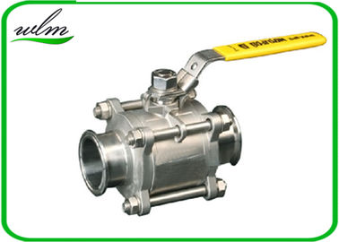 China Sanitary Manual Ball Valve , Three Piece Encapsulated Hygienic Ball Valves supplier