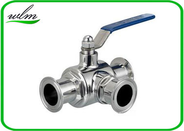 China SS304 316L Stainless Steel Sanitary Manual Three Way Ball Valves for Hygienic Pipeline Applications supplier