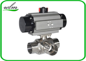 China L Or T Type Sanitary Ball Valves Butt Weld For Chemical Fluids And Pharmacy supplier