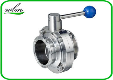 China Quick Install Tri Clamp Butterfly Valve For Wine Industries , ISO / DIN / BS Approved supplier