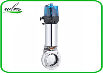 China Hygienic Pneumatic Sanitary Butterfly Valve Intelligent Automation Control Unit supplier