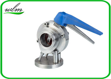 China Leakage Proof Sanitary Butterfly Valve Manual Or Pneumatic Type , Corrosion Resistance supplier