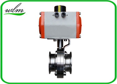 "China Hygienic Grade Sanitary Tri Clamp Butterfly Valve Compact Configuration , Large Size 1"" - 8"" supplier"