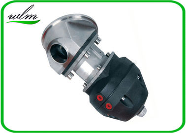 China Casted Steel Sanitary Diaphragm Valve , Diaphragm Pneumatic Valve Non Retention supplier