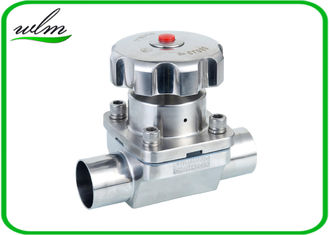 China Butt Welded Sanitary Diaphragm Ball Valve PTFE Seal Material , Minimized Dead Leg supplier