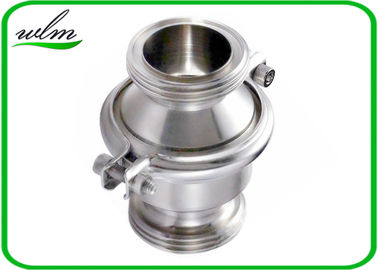 China Sanitary SS Check Valve , High Temperature Check Valve With Male Thread End supplier