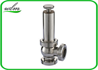 China High Sanitation Hygienic Pressure Relief Valve Manual Gear Powered , Union Connection supplier