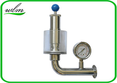China Adjustable Automatic Pressure Relief Valve / Sanitary Union Exhaust Pressure Valve supplier