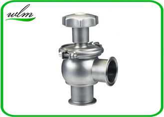 China Hygienic Sanitary Manual Flow Regulating Valve Butt Weld / Tri Clamp Connection Ends supplier