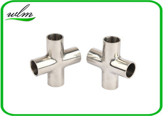 China Mirror Polishing Sanitary Pipe Fittings Cross Pipe Fittings For Pharmaceutical Engineering supplier