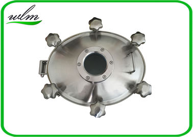 China Sight Glass Stainless Steel Manhole Cover High Pressure Elliptical Shaped supplier