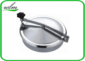 China Normal Pressure Stainless Steel Manhole Cover , Tank Round Manhole Cover supplier