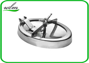 China 304 316L Stainless Steel Manhole Cover Sanitary Elliptical Shape For Hygienic Tank Vessels supplier