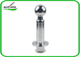 China Automatically Sanitary Rotary Spray Ball Double Clamp Flange Connection End supplier