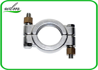 China Hygienic High Pressure Pipe Clamps With Automatically Adapt Fastening Forces supplier