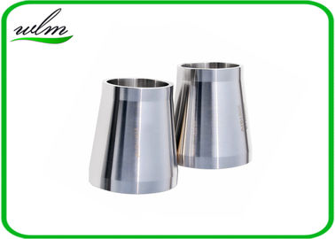 China Stain Finishing Eccentric Reducer Pipe Fitting For SS Sanitary Pipe Fittings supplier