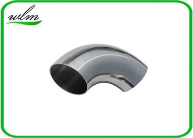 China Chemical / Food Grade Bend Elbow Pipe Fitting , Stainless Steel Sanitary Pipe Fittings supplier