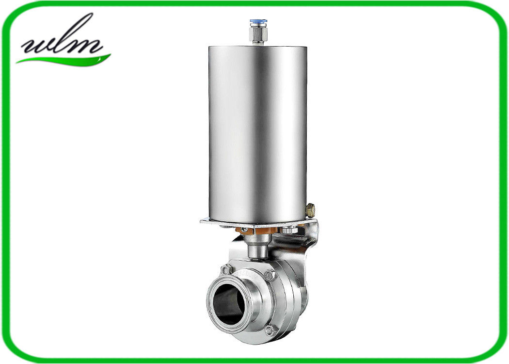 Tri Clamp Sanitary Butterfly Valve With EP Finished Surface