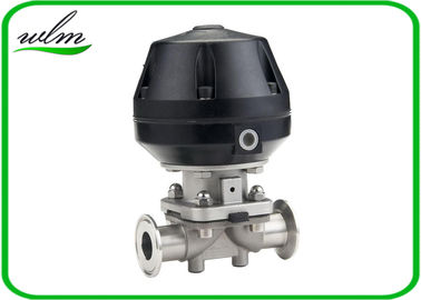 Professional Hygienic Diaphragm Actuator Valve Mushroom Valves Spring Return / Double Acting