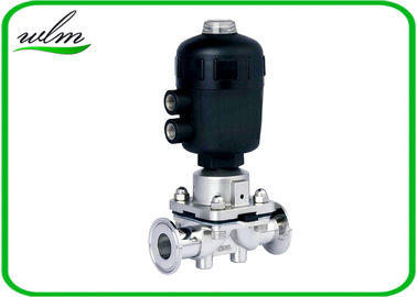 Pharmaceutical Sanitary Diaphragm Valve , Plastic Case Pneumatic Diaphragm Valve