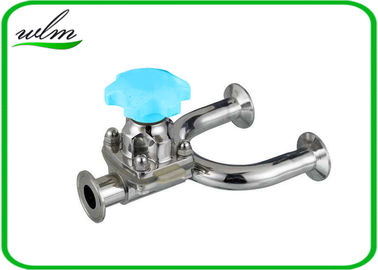 1.4435 / 316L Stainless Steel Diaphragm Valve Hygienic Grade , U Shaped