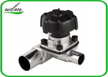 Manual / Pneumatic Sanitary 3 Way Diaphragm Valve , T Type Tri Clamp Valve