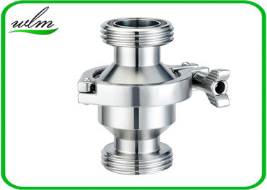 Hygienic Grade Sanitary Check Valve With Male Thread Connection , High Sealing Function