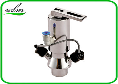Sanitary Butt Weld Aseptic Sampling Valve Manual And Pneumatic Hybrid Operation