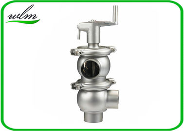 Stainless Steel Hygienic Sanitary Shutoff Manual Diverter Valve With 0-10 Bar Working Pressure