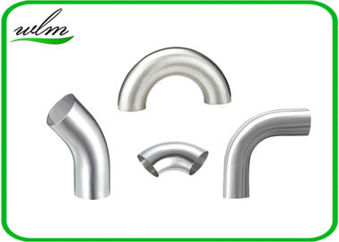 Durable Sanitary Pipe Fittings Elbow Pipe Fittings Union Connection For Food Industry Yogurt