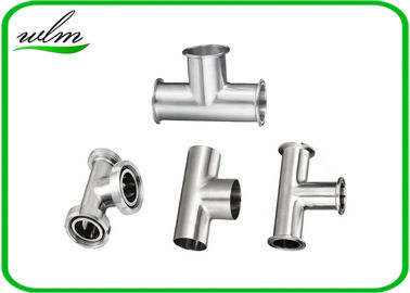 Equal Straight Reducing Sanitary Pipe Fittings Y Shape Tee Pipe Fittings