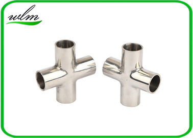 Mirror Polishing Sanitary Pipe Fittings Cross Pipe Fittings For Pharmaceutical Engineering