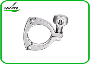 High Safety Sanitary Tri Clamp Fittings Three Pieces Detachable Clamps With Triple Leak Proof
