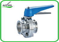 Multiple Position Sanitary Manual Butterfly Valves with Plastic Gripper Handle