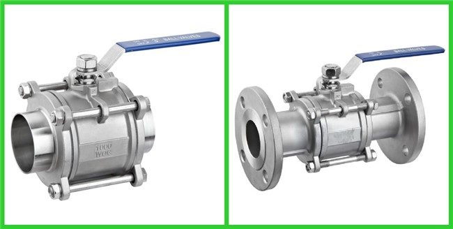 Portable Sanitary Full Port Ball Valve , Stainless Steel Ball Valve For Food Industry Piping System