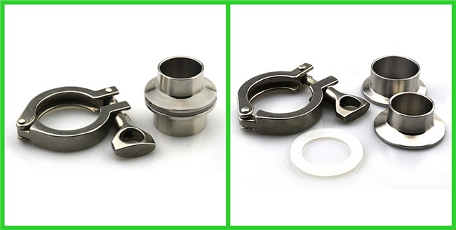 Adjustable Heavy Duty Clamps Stainless Steel Hygienic Fittings 2-6bar Pressure