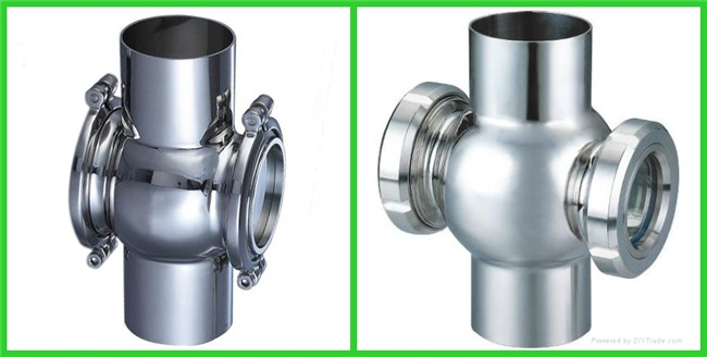 Hygienic Industrial Sight Glasses For Pressure Vessels , High Pressure Sight Glass