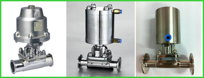 Fast Assembly Sanitary Diaphragm Valve Straight Through