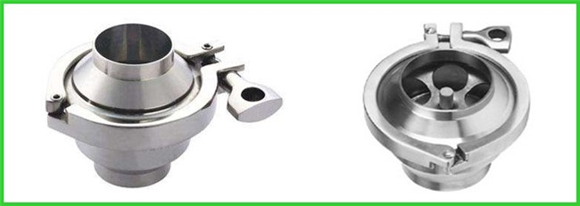 Durable Hygienic Non Return Check Valve Butt Weld End One Way Flow Direction