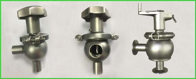 Hygienic Sanitary Manual Flow Regulating Valve Butt Weld / Tri Clamp Connection Ends