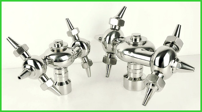 Sanitary T Type Sanitary Spray Balls , Double Circulating Rotating Spray Ball Tank Cleaning