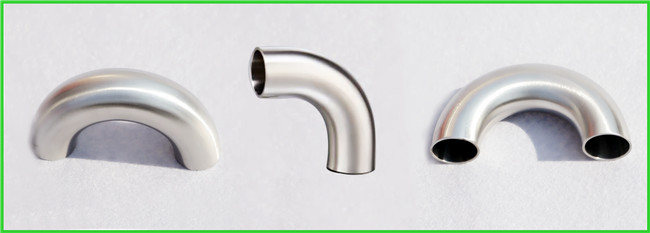 Chemical / Food Grade Bend Elbow Pipe Fitting , Stainless Steel Sanitary Pipe Fittings